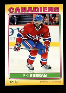 2012-13 O-Pee-Chee Hockey  Sticker  #S-57  P.K. Subban