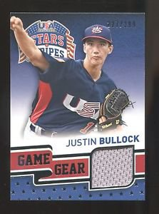 2015 Panini USA Baseball Stars & Stripes  Game Gear #50  Justin Bullock  227/299