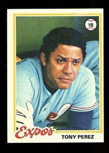 1978 Topps Baseball  #15  Tony Perez  Montreal Expos
