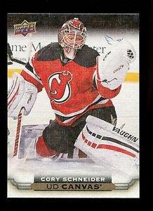 2015-16 Upper Deck Hockey Series 1 UD Canvas  #C52  Cory Schneider