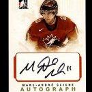 2007-08 ITG O Canada Hockey Autograph  Marc-Andre Cliche  #A-MAC