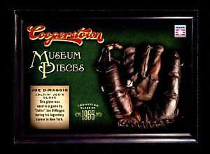 2012 Panini Cooperstown Baseball Hall of Fame Museum Pieces #18  Joe DiMaggio