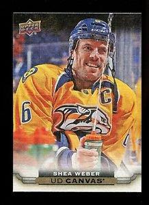 2015-16 Upper Deck Hockey Series 1 UD Canvas  #C50  Shea Weber