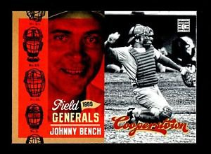 2012 Panini Cooperstown Baseball Hall of Fame  Field Generals  #1  Johnny Bench
