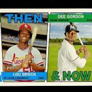 2016 Topps Heritage Baseball  Then & Now #TAN-BG  Lou Brock  Dee Gordon