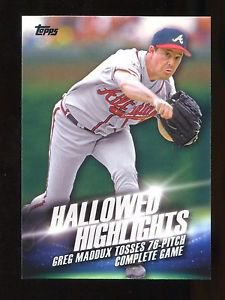 2016 Topps Baseball Series 2  Hallowed Highlights  #HH-15  Greg Maddux