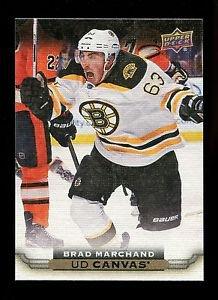 2015-16 Upper Deck Hockey Series 1 UD Canvas  #C7  Brad Marchand