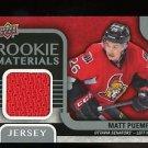 2015-16 Upper Deck Hockey Series 2 Rooke Materials Jersey #RM-MP  Matt Puempel