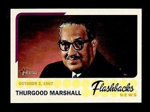 2016 Topps Heritage Baseball  News Flashbacks  #NF-TM  Thurgood Marshall