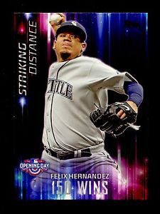 2016 Topps Opening Day Baseball  Striking Distance  #SD-7  Felix Hernandez
