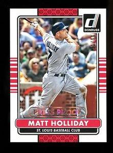 2015 Panini Donruss Baseball  GOLD Press Proof  #163  Matt Holliday  31/99