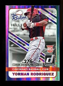 2015 Panini Donruss Baseball  The Rookies Stat Line  Yorman Rodriguez #12  7/276