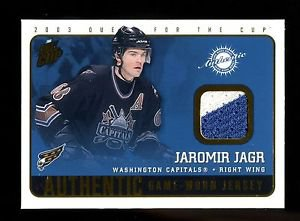2002-03 Pacific Quest for the Cup Game Worn Jersey #24  Jaromir Jagr  2 colors