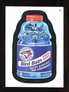 2016 Topps MLB Wacky Packages  #7  Blue Jays Bird Bath Sports Drink