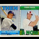 2016 Topps Heritage Baseball  Then & Now #TAN-YD  Carl Yastrzemski  Chris Davis