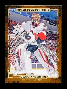 2015-16 Upper Deck Portfolio Hockey  Base  #151  Craig Anderson