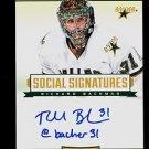 2013-14 Panini Hockey Titanium  Social Signatures  #SS-RB  Richard Bachman