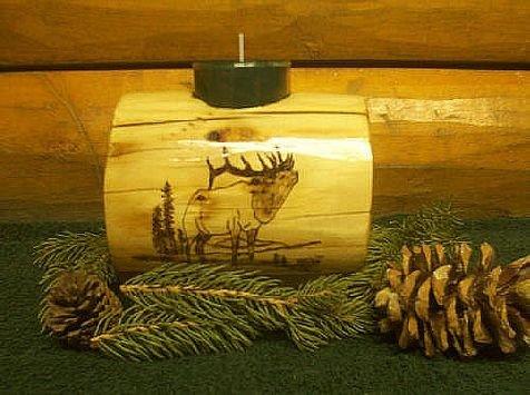 Timber Bull Elk Candleholder