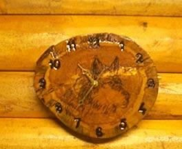 Timber Wolf Kitchen Clock