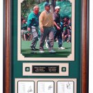 TIGER WOODS - JACK NICKLAUS - ARNOLD PALMER AUTOGRAPHED MASTERS COLLAGE