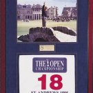 ARNOLD PALMER HAND-SIGNED 1995 BRITISH OPEN PIN FLAG