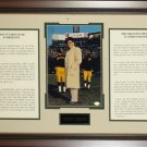 "VINCE LOMBARDI ""WHAT IT TAKES TO BE NO. 1"" CUSTOM FRAMED SPEECH"