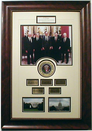5-Presidents custom framed collage