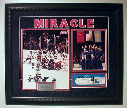 MIRACLE ON ICE CUSTOM FRAMED COLLAGE