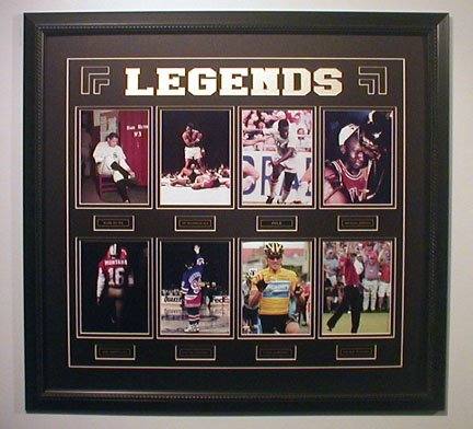SPORTS GREATEST LEGENDS CUSTOM FRAMED COLLAGE