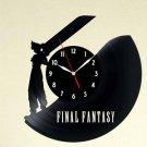 Final Fantasy Link Game Wall Vinyl Record Clock Gift Black Wall Decor Collection