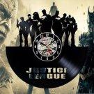 Justice League Vinyl Record Wall Clock Justice League Fan Gift Wall Art