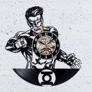 Green Lantern Vinyl Record Wall Clock Justice League Gift Fans Art Decor