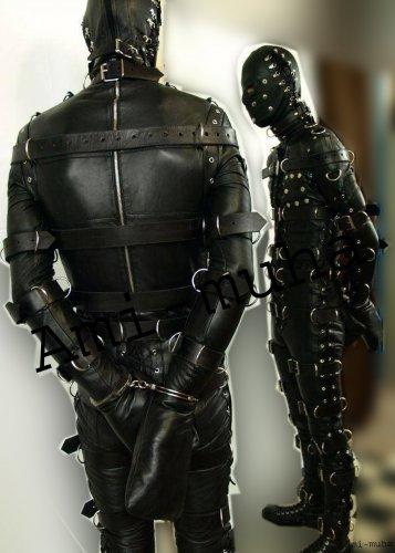FULL BODY 100% COWHIDE LEATHER Bondage STRAIT SUIT BDSM Play