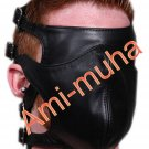 Leather FACE MASK Blindfold Bondage Restraint