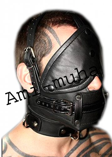 Blindfold Leather Head Harness