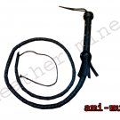 HUNTER BLACK WHIP Beautiful Real Cowhide Leather, INDIANA JONES Bullswhip 130cm