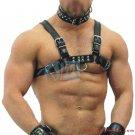 Bulldog Men's Leather Body Chest Harness