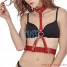 Ladies leather waistband Harness connected with a collar