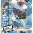 1996  Fleer Ultra  Gold Medallion  SledgeHammer Insert   # 10   Rodney Thomas