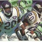 1995   Fleer Ultra    2nd Year Standouts Insert    # 13   DeWayne Washington