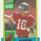 1990  Topps Record Breaker # 1  Joe Montana HOF'er