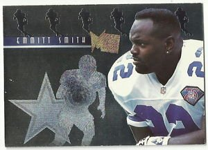 1995   Fleer Metal    Platinum Portraits Insert   # 10   Emmitt Smith