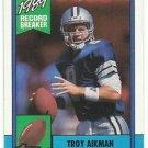 1990  Topps   Record Breaker     # 3  Troy Aikman