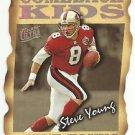 1997  Fleer Ultra  Comeback Kids Die Cut Insert # 5  Steve Young  HOF'er