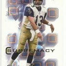 2000   SP Authentic  Supremacy Insert    # 12   Kurt Warner