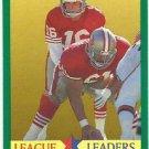 1991    Fleer   League Leader    # 408   Joe Montana