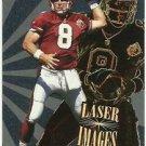 1996  Score Board Laser Images Insert  # 24  Steve Young  HOF'er