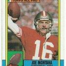 1990  Topps   All Pro   # 13  Joe Montana   HOF'er