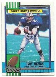 1990  Topps   Super Rookie    # 482   Troy Aikman  HOF'er