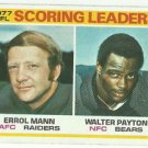 1978  Topps   Scoring Leaders  #334  Walter Payton / Errol Mann